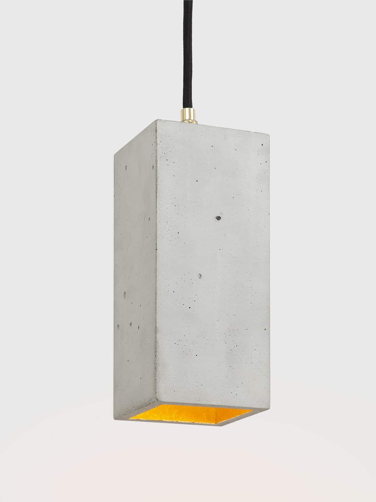 Image of   Betonlampe rektangulær, lysegrå