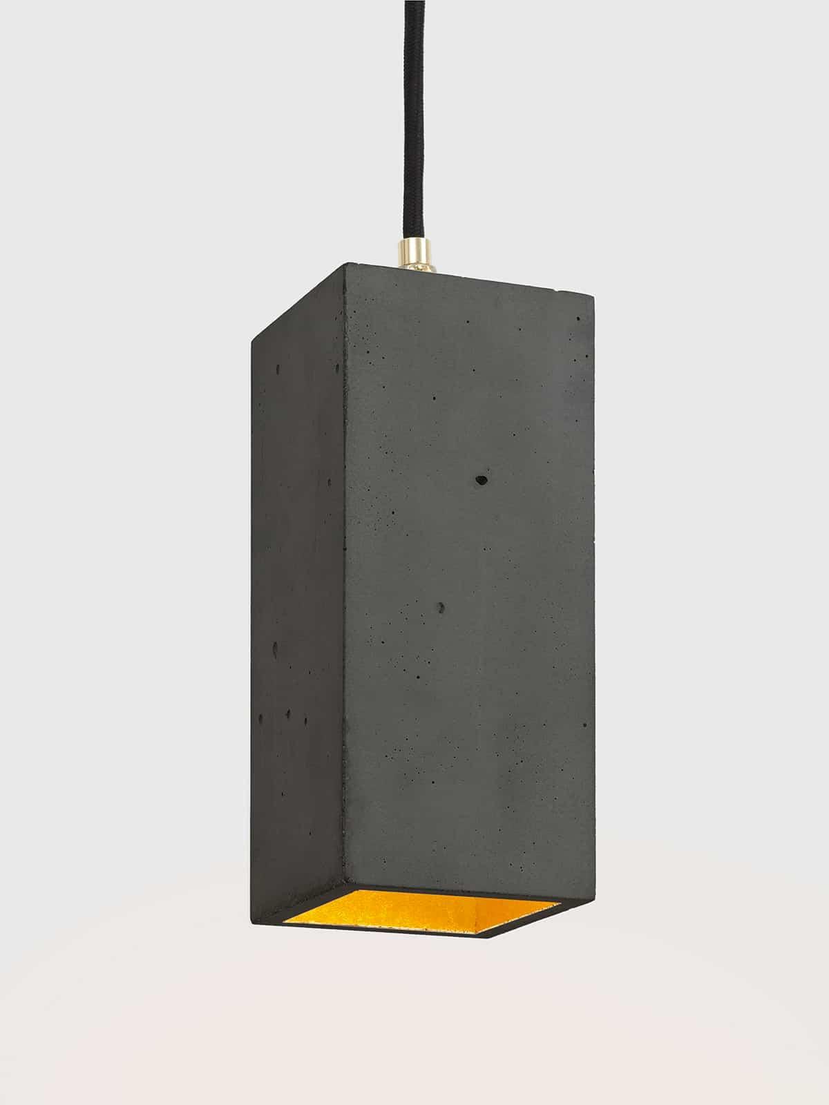 Image of   Betonlampe rektangulær, mørkegrå