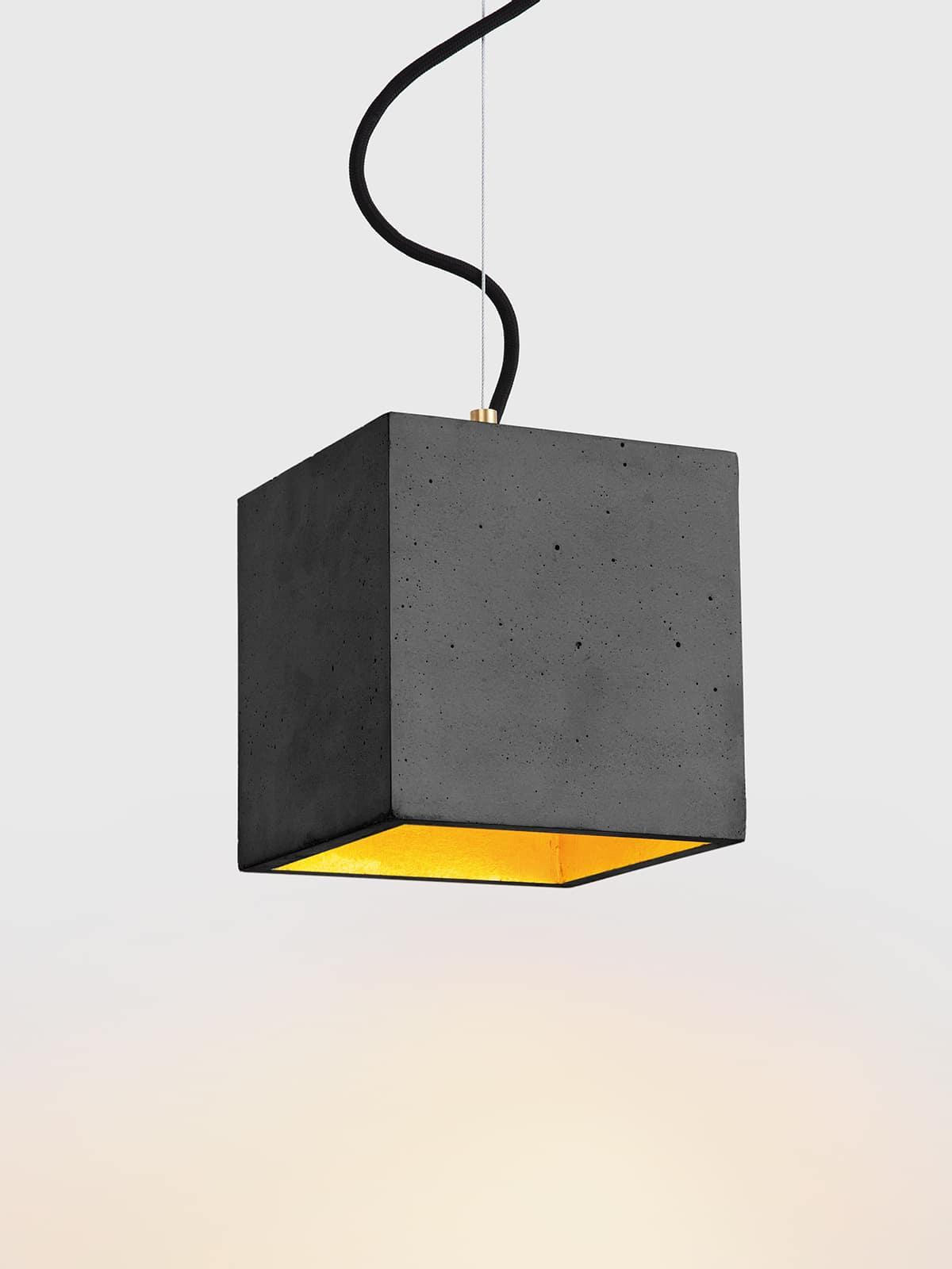Image of   Betonlampe kubik (stor), mørkegrå