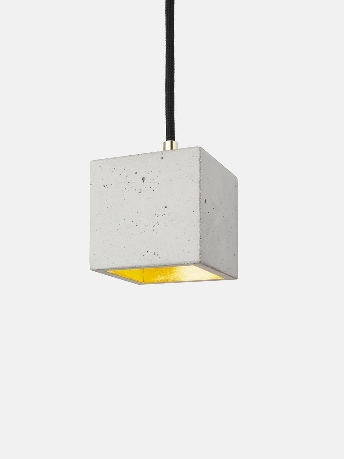 Image of   Betonlampe kubik (lille), lysegrå