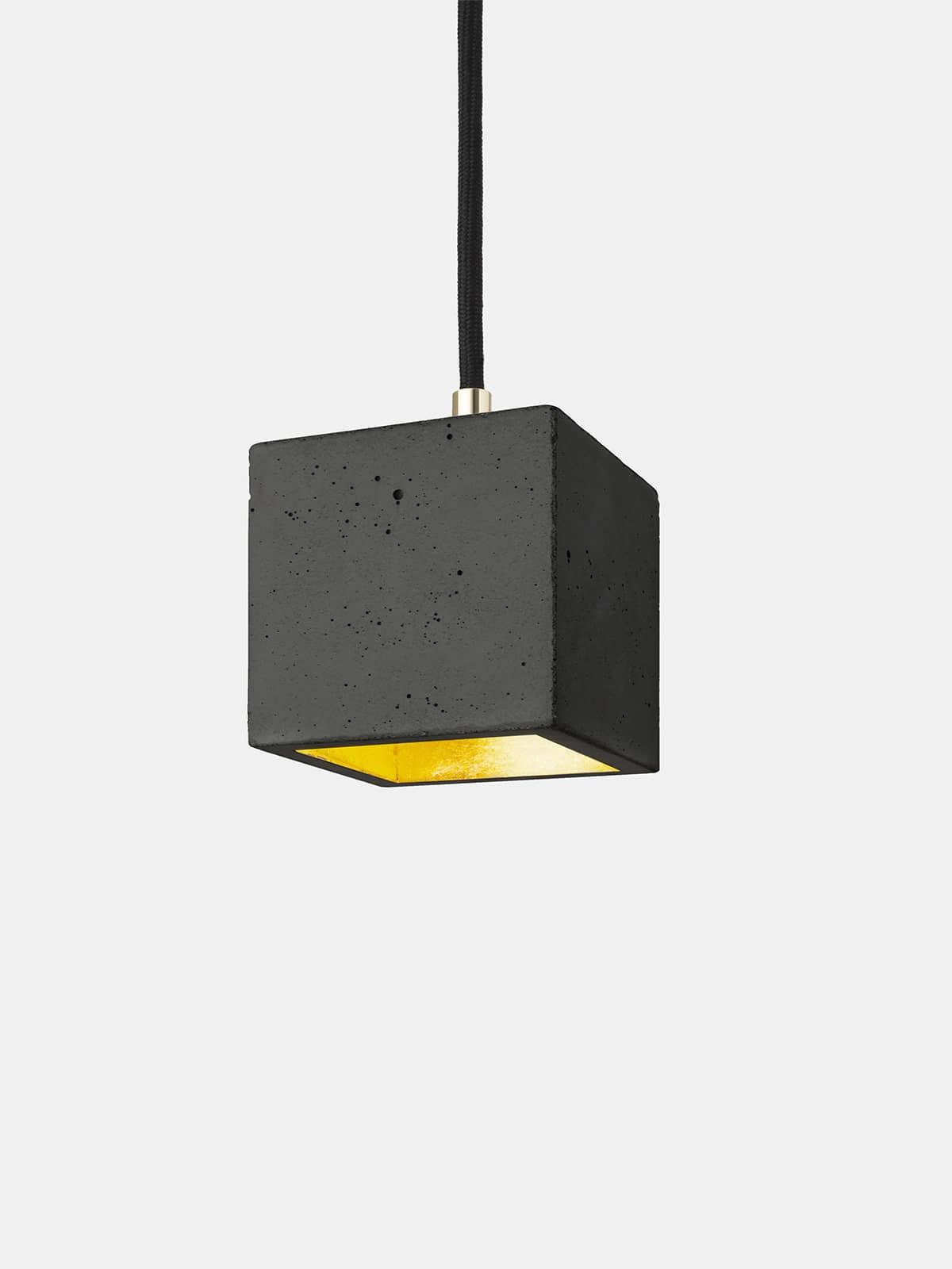 Image of   Betonlampe kubik (lille), mørkegrå