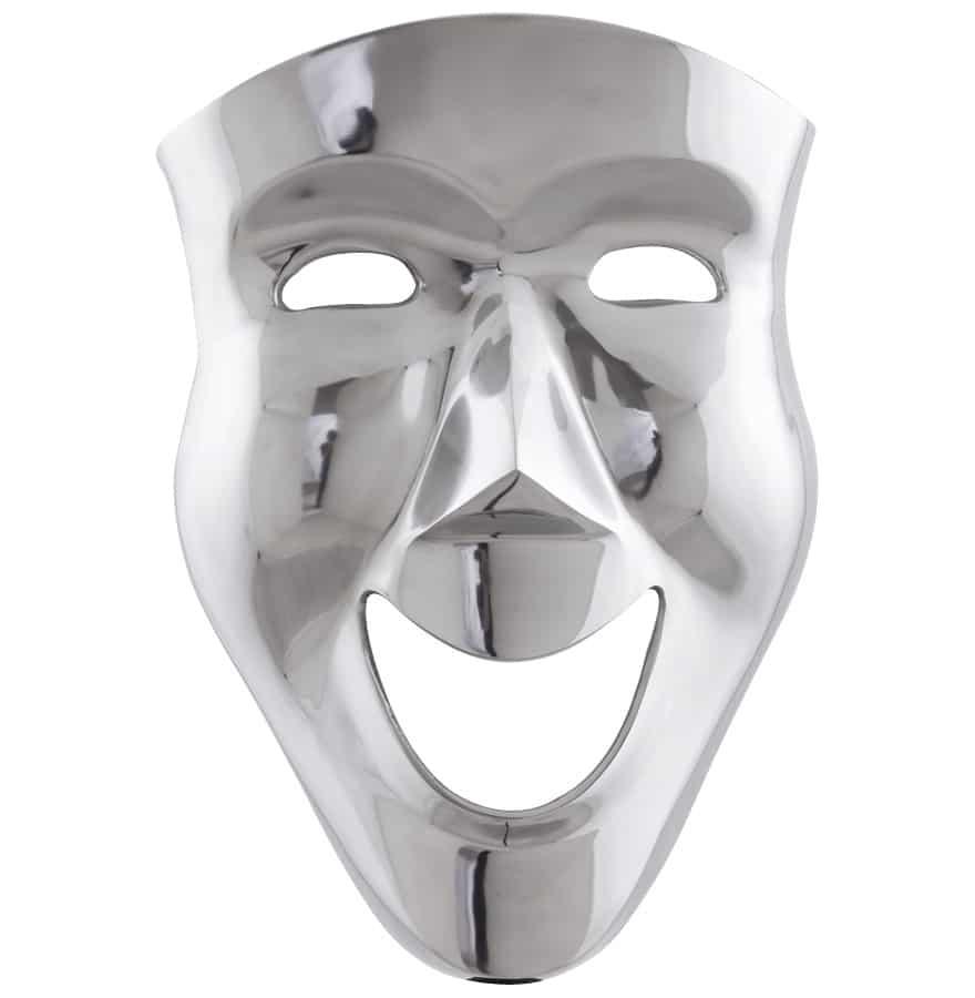 Image of   Maske i poleret aluminium