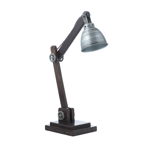 Rå zink bordlampe