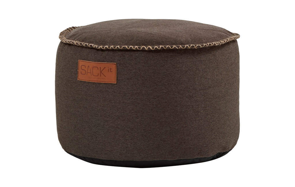 Image of   Puf RETROit Canvas drum Dark Brown