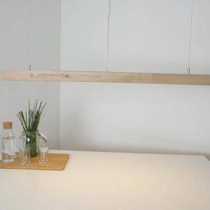 Pendellampe i lys bøg 120 cm
