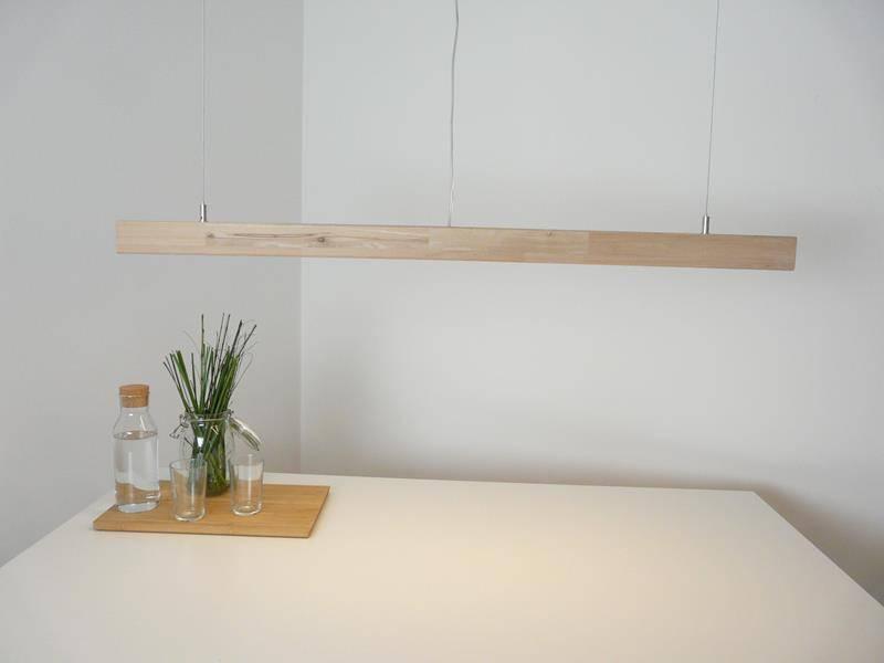 Image of   Pendellampe i lys bøg 120 cm
