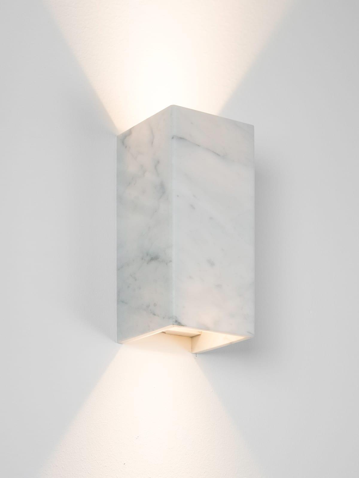 Marmor væglampe Carrara