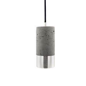 Mørk betonlampe