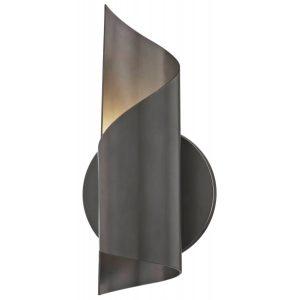 Evie væglampe i bronchelakeret stål