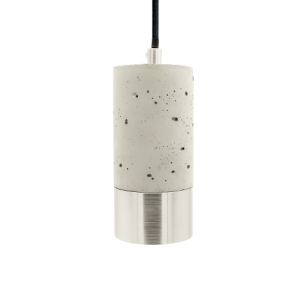Lys betonlampe med aluminium