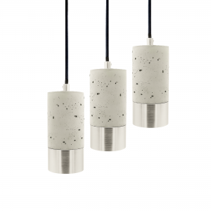 3 lyse betonlamper aluminium