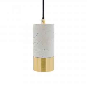 Lys betonlampe i messing