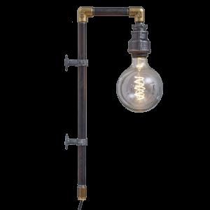 WallPipe Black væglampe