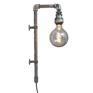 WallPipe Grey væglampe