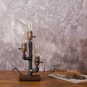 Vandrør Edison 3 bordlampe