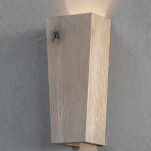 RAMUS væglampe i træ hvid