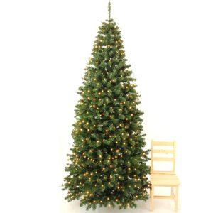 Juletræ 270 cm med LED lys
