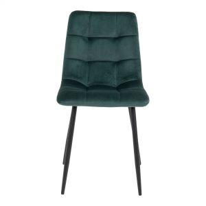 Spisebordsstol velour mørkegrøn