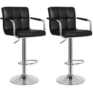 2 barstole i sort med armlæn