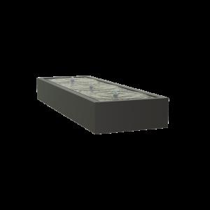 Springvand aluminium 300 x 100 cm højde 40 cm