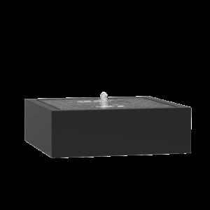 Springvand aluminium 120 x 120 cm højde 40 cm