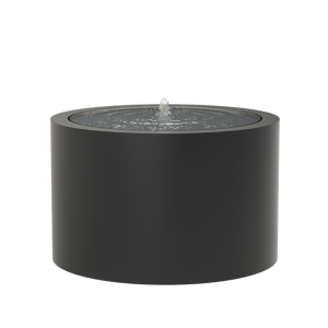Springvand aluminium rund Ø120 cm højde 75 cm