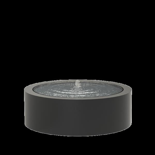 Springvand aluminium rund Ø120 cm højde 40 cm