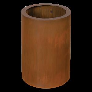 Corten stål krukke cylinder høj