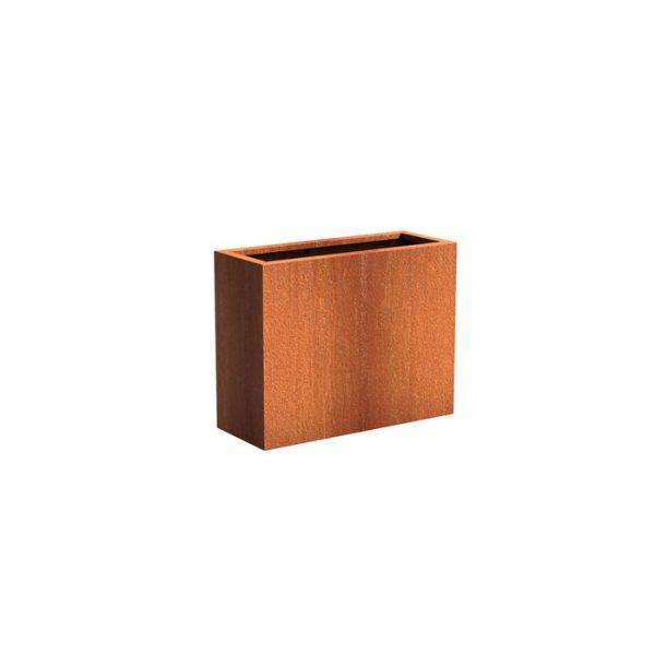 Rektangulær cortenstål 100 x 40 cm højde 80 cm