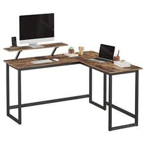 Hjørneskrivebord brun