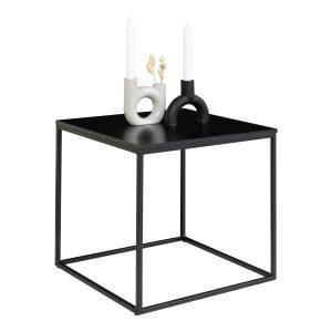 Hjørnebord i sort 45x45x45 cm