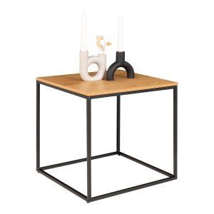 Hjørnebord i egetræs look 45x45x45 cm
