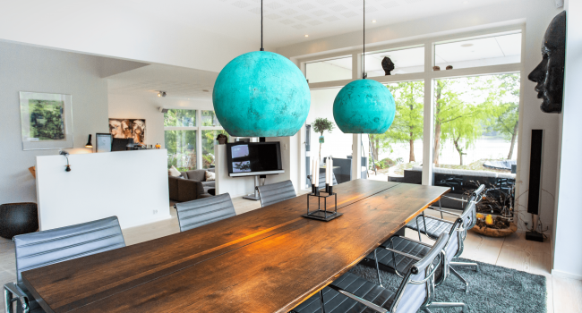 Oxiderede kobberlamper - møbler og interiør