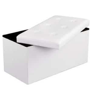 Hvid bænk læder