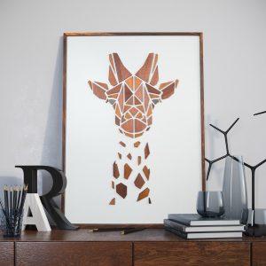 Vægkunst Replant Art Giraffen