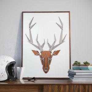 Vægkunst Replant Art Hjorten