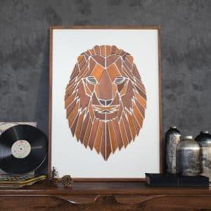 Vægkunst Replant Art Løven
