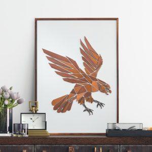 Vægkunst Replant Art Ørnen