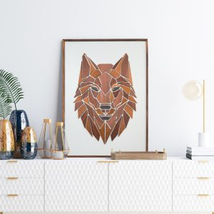Vægkunst Replant Art Ulven