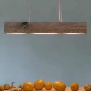 Loftslampe i egetræ 80 cm