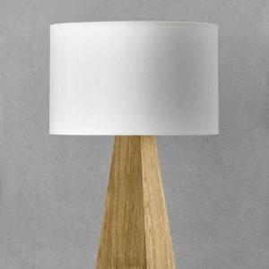 Bordlampe egetræ 52 cm høj