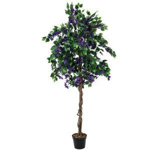 Bougainvillea kunsttræ 150 cm med lavendel farvede blomster
