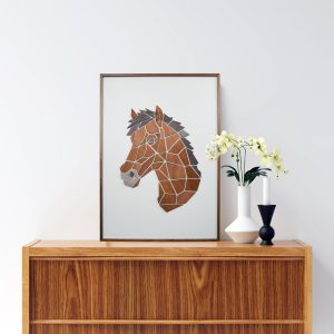 Vægkunst Replant Art Hesten