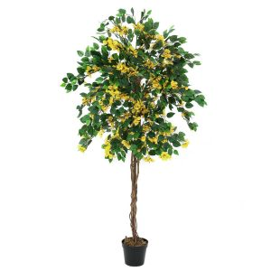Bougainvillea kunsttræ 180 cm med gule blomster